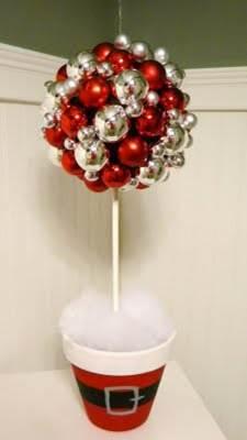 C mo hacer un topiario navide o for Decoracion de navidad manualidades
